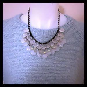 Charming Charlie's Iridescent Bib Necklace